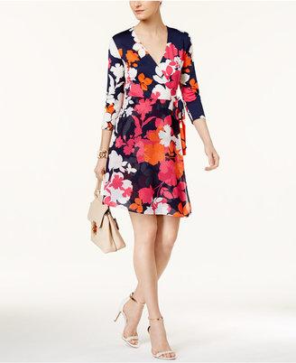 Eci Mixed-Media Wrap Dress $80 thestylecure.com