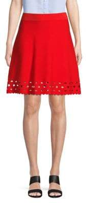 Saks Fifth Avenue Lazer-Cut A-line Skirt