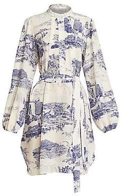 Chloé Women's Toile de Jouy Silk Shirtdress