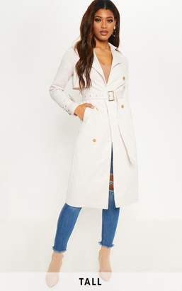 PrettyLittleThing Tall Ivory Trench Coat