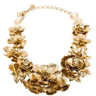 Oscar de la Renta Flower Collar Necklace