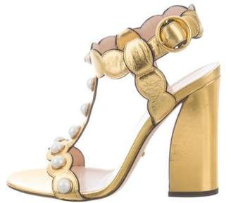 Gucci Willow Metallic Sandals