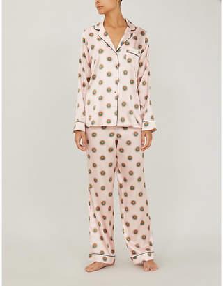 Yolke Sun-print stretch-silk pyjama set