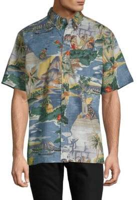 Reyn Spooner Graphic Short-Sleeve Button-Down Shirt
