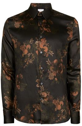 Green Floral Print Dress Shirt $75 thestylecure.com