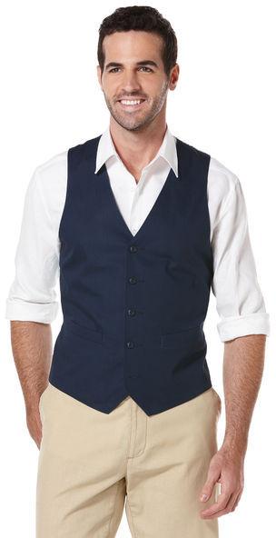 Cubavera Cotton Two Pocket Vest