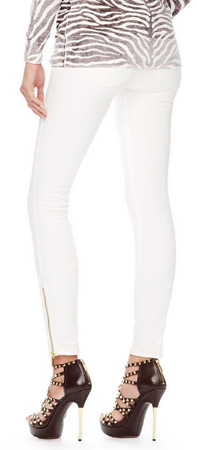 Michael Kors Zipper-Cuff Skinny Jeans