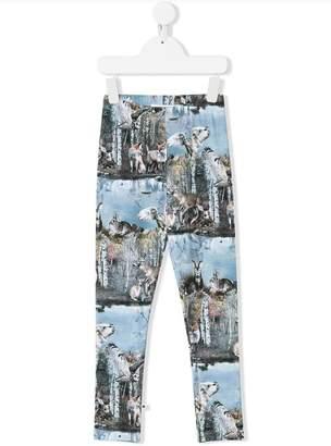 Molo forest lake print leggings