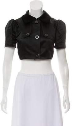 Dolce & Gabbana Short Sleeve Cropped Jacket