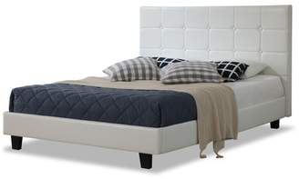 Amalfi by Rangoni White Button Faux Leather Bed Frame