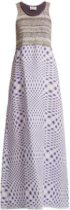 Acne Studios Mabley checked cotton-blend knit dress