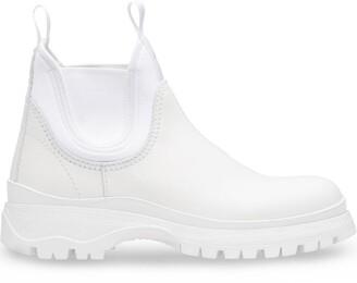 Prada round toe ankle boots
