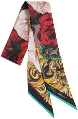 Dolce & Gabbana (ドルチェ & ガッバーナ) - DOLCE & GABBANA シルクツイル ミニスカーフ