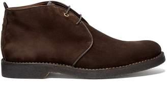 Ermenegildo Zegna Joe Suede Desert Boots - Mens - Dark Brown