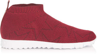 Jimmy Choo NORWAY/M Red and Bordeaux Knit Trainers