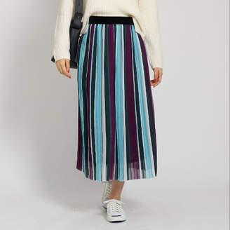 Dessin (デッサン) - Dessin(Ladies) マルチストライプ プリーツスカート