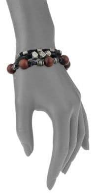 Ettika Leather Wrap Bracelet