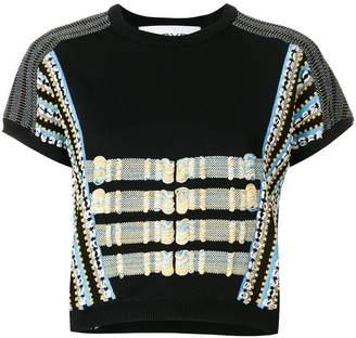 Carven stripe detail T-shirt