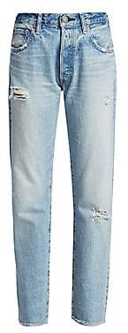 Moussy Vintage Women's Steele High-Rise Distressed Straight Jeans