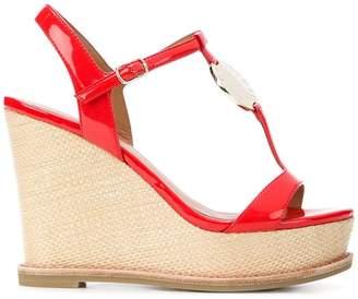 Emporio Armani strappy wedge sandals