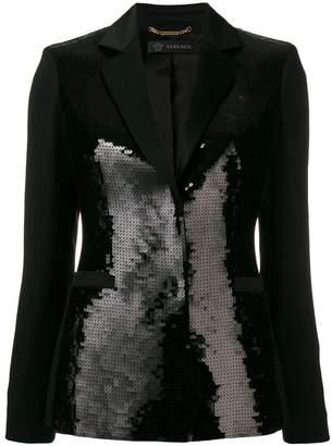 Versace sequin-embellished blazer