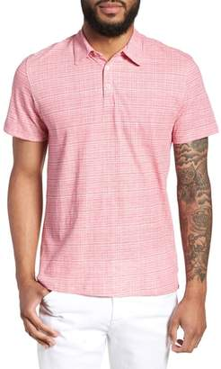 Zachary Prell Cedar Regular Fit Grid Print Polo