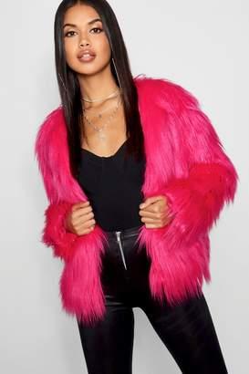 boohoo Shaggy Faux Fur Coat