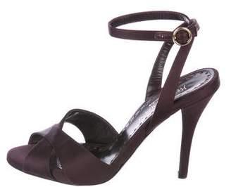 Saint Laurent Vintage Satin Sandals