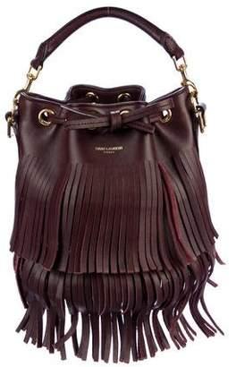 Saint Laurent Emmanuelle Leather Fringe Satchel