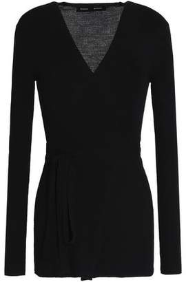 Proenza Schouler Ribbed-Knit Stretch-Wool Top