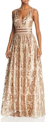 Avery G Embellished Brocade Ball Gown