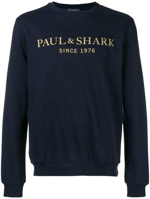 Paul & Shark logo print sweatshirt