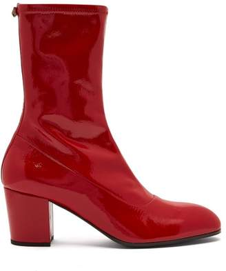 Gucci Pryntil Patent Leather Boots - Mens - Red