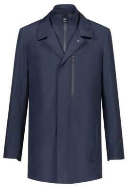 HUGO Boss Water-repellent jacket detachable stand collar S Dark Blue