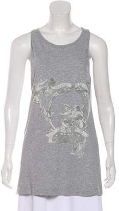 Pierre Balmain Graphic Print Knit Top
