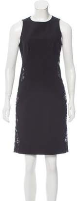 Stella McCartney Lace-Accented Knee-Length Dress
