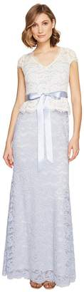 Adrianna Papell Nouveau Scroll Lace Gown Women's Dress