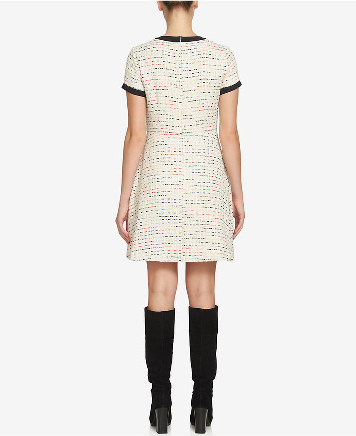CeCe Chloe Tweed A-Line Dress 2