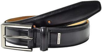 Dockers Men's Black Leather Belt-Big & Tall