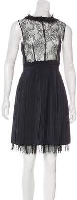 Nina Ricci Pleated Knee-Length Dress w/ Tags