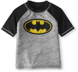 Batman Toddler Boy Rashguard Swim Top