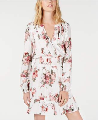 American Rag Juniors' Floral-Print Smocked-Waist Dress