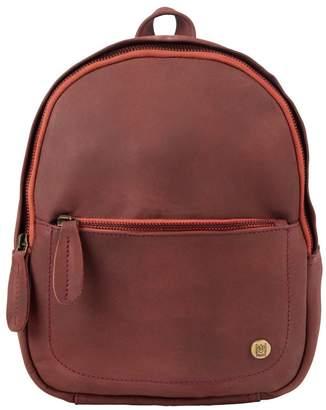 MAHI Leather - Mini Backpack In Vintage Maroon Nubuck Suede Leather