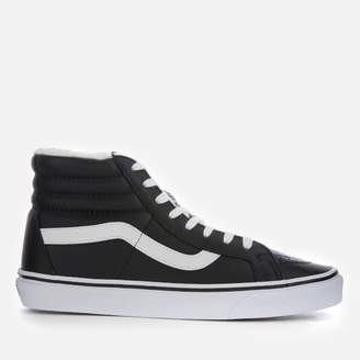 0552576af93e Vans Men s Sk8-Hi Reissue Leather Fleece Trainers - Black True White