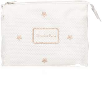 Chocolat Baby Bag with Embroidered Gold White/Gold U