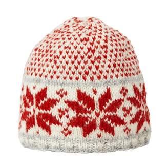 Joe Browns Red Snowflake Wool Beanie