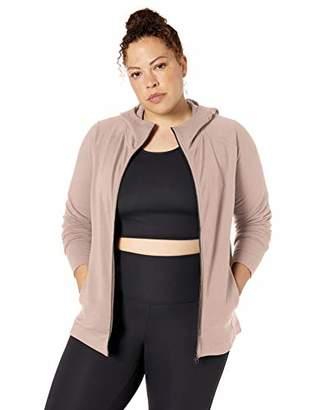 Core 10 Women's Soft Cotton Modal French Terry Fleece Full-Zip Hoodie Sweatshirt