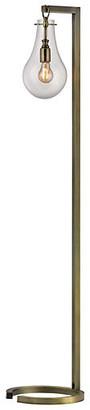 One Kings Lane Metal Floor Lamp - Antiqued Brass