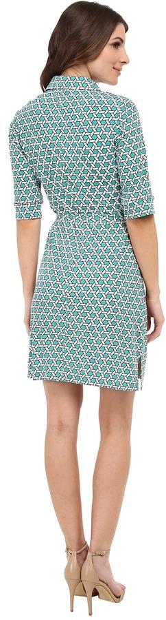 Laundry by Shelli Segal Printed Matte Jersey Shirt Dress