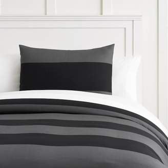 Pottery Barn Teen Bold Rugby Stripe Duvet Cover, Twin/Twin XL, Black/Gray